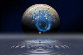 pool of liquid hydrogen like that at the core of Jupiter