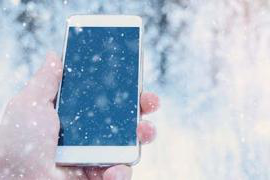 cell phone in snow