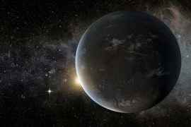 artist's depiction of a super-Earth