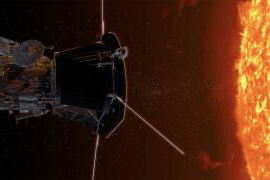 a graphic of the Parker Solar Probe